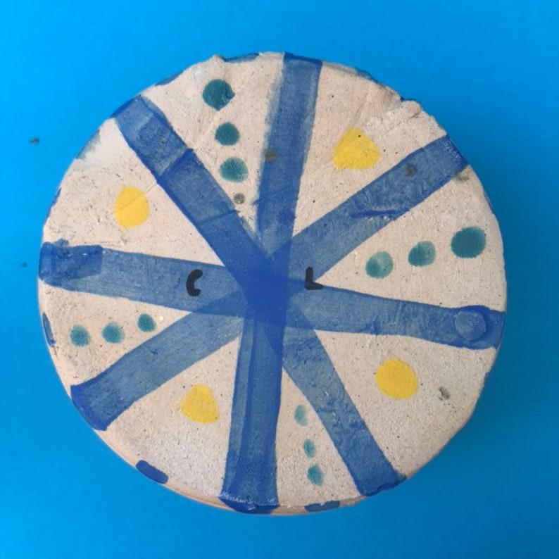 Painted Pattern Ceramic VasePlanter