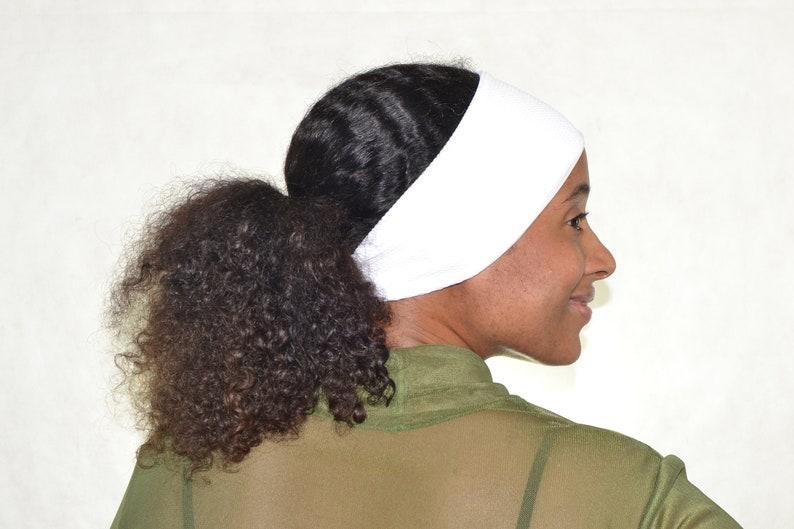magasin promotion style classique de 2019 White textured mesh headband, double layer headband, headbands for women,  yoga headband, workout headband, running headband, boho headband