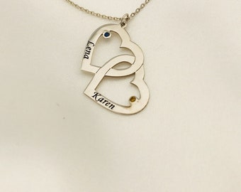 Clamp Pendant Personalized Necklace, Lovers' Day Gifts for Girlfriend ...