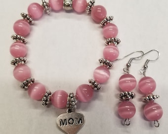 Mother's Day bracelet and earrings set