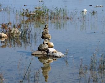 nature photography, shoreline photography, rock photography, water photography, river lake photography, fine art, wall hanging