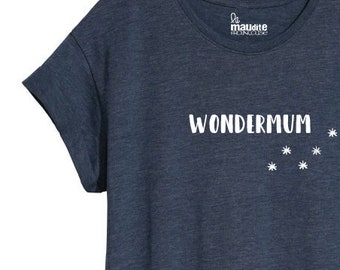 T-SHIRT - Wondermum - available in grey, black, white, Khaki, blue and pink