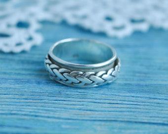 Massiv Breit 63 64 70 Keltisch Silberring Wellen Muster Wikinger Ring Silber