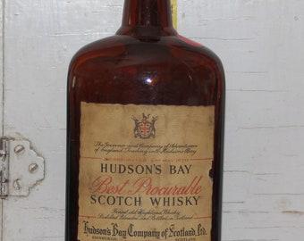 Vintage Hudson's Bay Scotch Whiskey Bottle