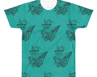 Paper Airplane - all over print tee