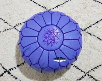 Moroccan Pouf natural Leather pouf, pouf , Floor pouf , moroccan Leather Ottoman pouf,pouf 13