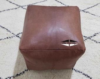 Moroccan Pouf natural Leather pouf, pouf , Floor pouf , moroccan Leather Ottoman pouf,pouf 21