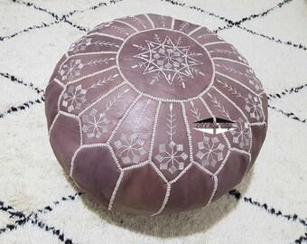 Moroccan Pouf natural Leather pouf, pouf , Floor pouf , moroccan Leather Ottoman pouf,pouf 18