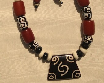 Ethnic Memory, ethnic, African, tribal, vintage, statement, chunky