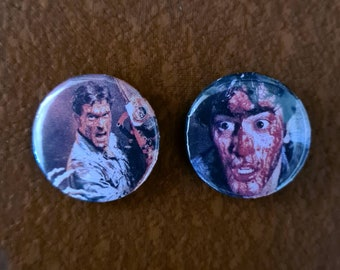 EVIL DEAD Badge Set / Bruce Campbell / Ash / Army of Darkness / Horror / Movies / Spooky