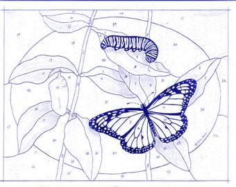 Monarch Butterfly Stained Glass Pattern