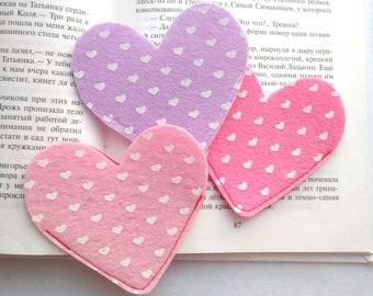 Felt bookmarks for books