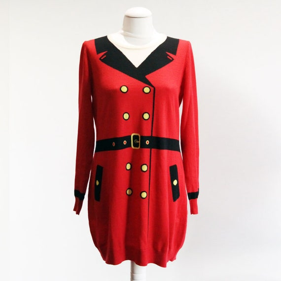Moschino Cheap wool dress and chic trompe l'oeil