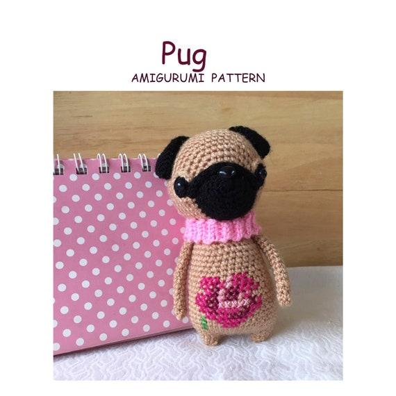 Baby Pug Dog amigurumi pattern | Baby pugs, Baby pug dog, Dog pattern | 570x570