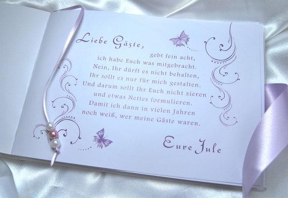 Gästebuch Kommunion Konfirmation Firmung Jugendweihe Mädchen Flieder Schmetterling Name Personalisiert