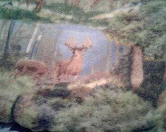 Deer print blanket