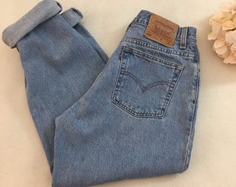 77a6bd78170 Vintage Levis 550 high waisted mom jeans
