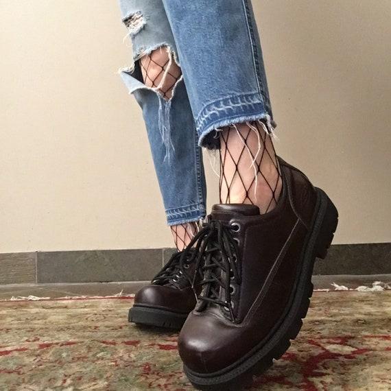 Vintage Skechers chunky heel platform shoes size m