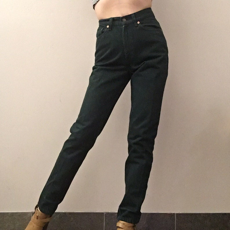 Vintage Levi\u2019s 512 forest green made in USA size 2526