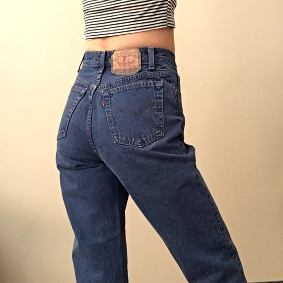 Vintage Levi's 501 high waisted mom jeans made in
