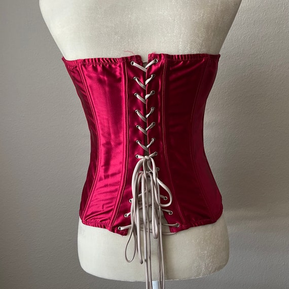 Vintage lace up corset to made in USA - image 8