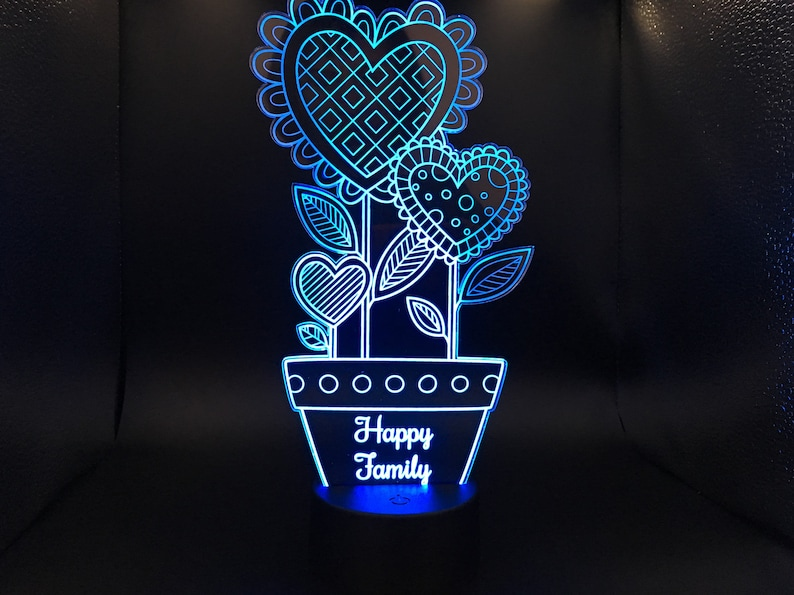 Family Illusion Night Light 3d Happy Led Desk Lamp jpSzLqGUMV
