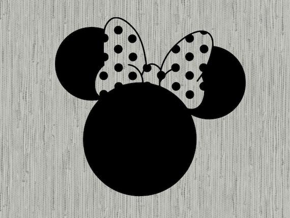 Disney es minnie Maus svg, minnie Maus Kopf svg, minnie bow svg, minnie  Maus-Clipart, Schnittdateien für Cricut-Silhouette, DXF, PNG, EPS