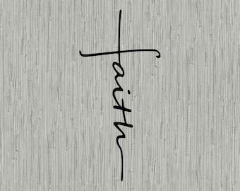 Faith Cross svg cut file, faith cross clipart, faith svg, cut files for cricut silhouett, PNG, EPS, DXF