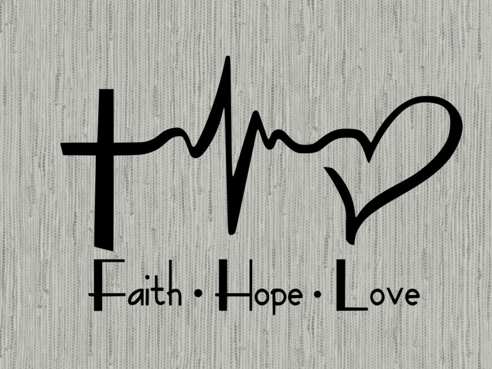 Faith Hope Love Heartbeat Svg Faith Svg Christian Svg Cut Etsy