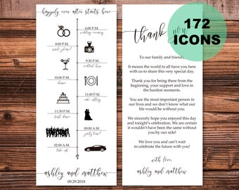 wedding day timeline template etsy