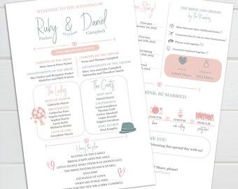 Funny Wedding Program Template Etsy