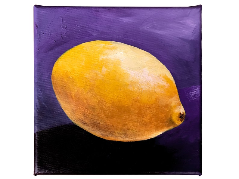 Vivid painting of a lemon small cheerful and colorful image 0