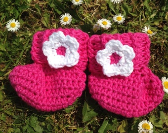 Pink Booties 3-6months