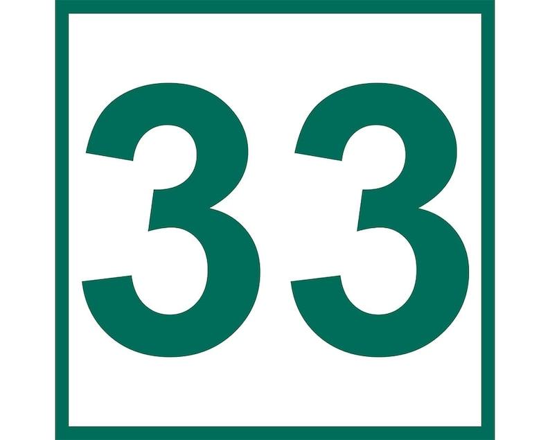 27c1635695b5 Larry Bird Retired Number Sticker Boston Celtics 33