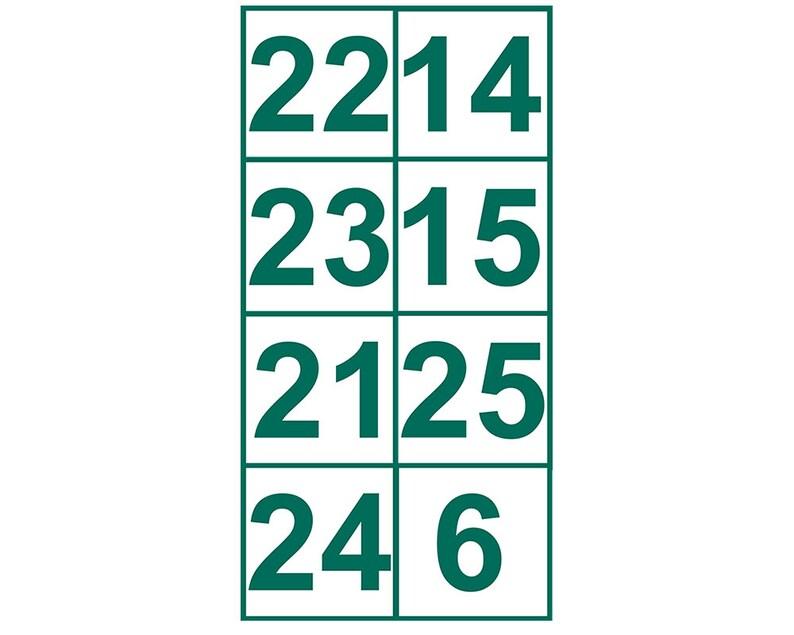 350698da2 Boston Celtics Retired Numbers Sticker Banner 2 of 3