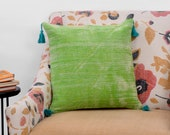 Indian Ethnic Décor Cushion Cover With Tassel 18 quot x18 quot pillows , Dhurrie Cushion Covers
