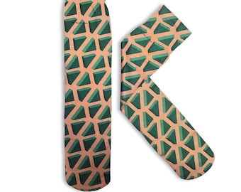 Stockings Veiled Print Triangles