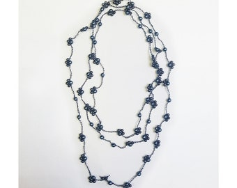 Woven Necklace Flowers