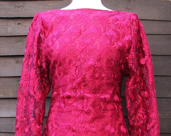 New With Tags Portuguese Mod Red Dress Vintage Dress Desigual Dress