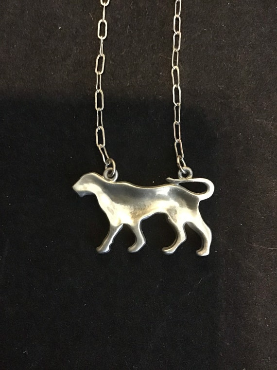 NOS Vintage 1970/'s Pewter Designer FROG and Chain Fabulous Necklace Vintage Jewelry