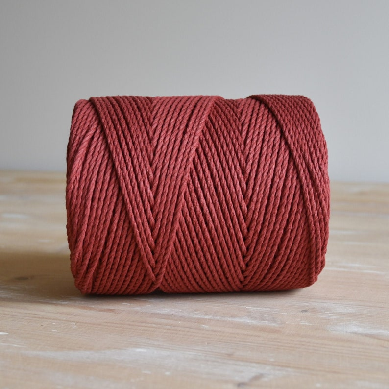 250 meters good quality macrame rope 100/% cotton rope  cord 1 kilo carmine red 3 mm 3-ply twisted rope