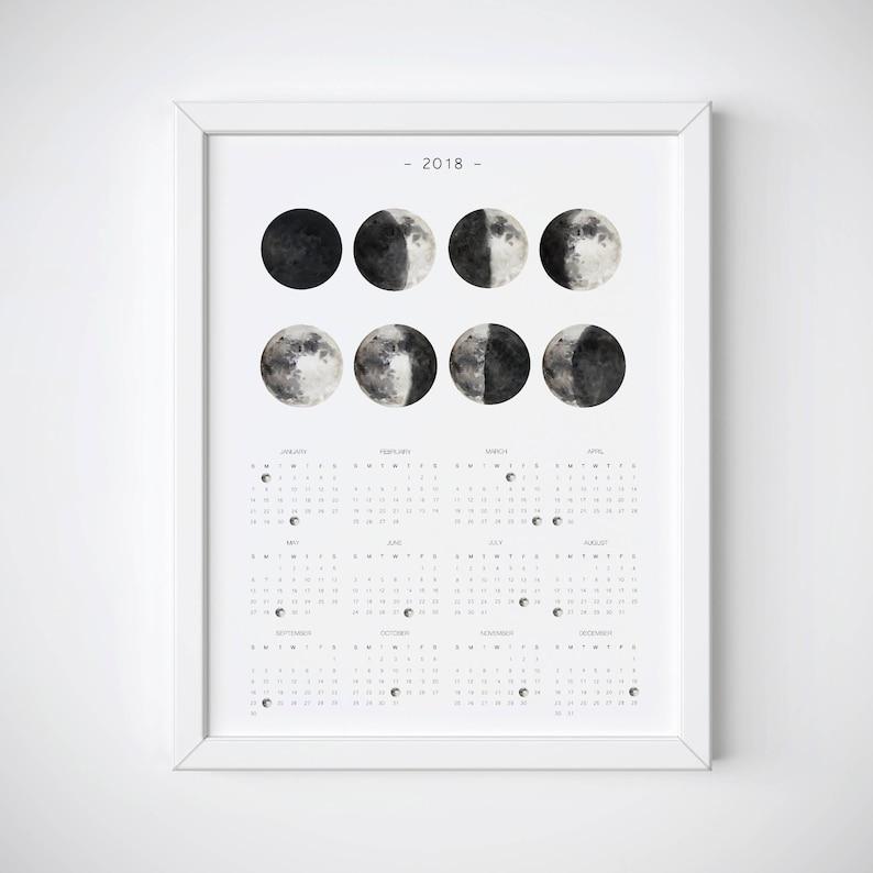 Maschio O Femmina Calendario Lunare 2018.Calendario Lunare 2018 2018 Ciclo Lunare Calendario Stampabile Calendario Lunare 2018 2018 Parete Calendario Stampabile Annuale Parete Calendario