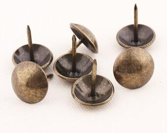 10mm 16mm 20pcs Bronze round head Upholstery Decorative Nailstacks,box thumb tacks,Push Pins,Sofa nail,door nails,furniture tacks