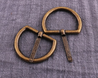 """Premium Belt //Strap Buckle 1.5/"""" Heel Bar Antique Brass with Keeper 9"""