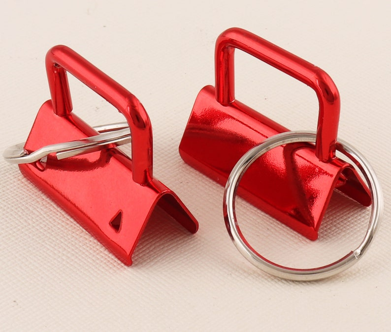 Key Fob Hardware with Key Rings Red Key fob hardware wi