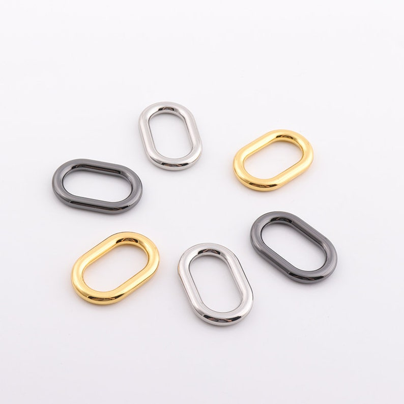 Mini Oval Ring metal oval ring oval buckle 16pcs Oval O