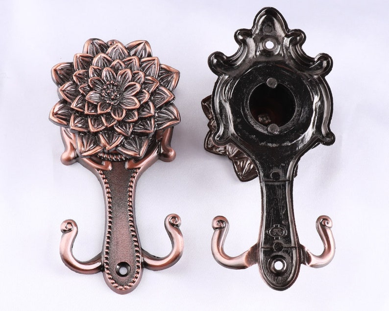 14cm Copper Decorative Hook Antique Curtain Tie Backs H