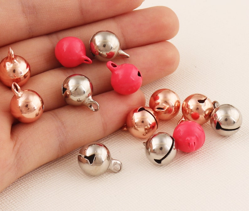 Rose red jewellery bells Christmas bells 40pcs Craft be