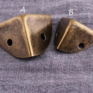 Bronze corner Leather handmade bags findings,Decorative Leg Corner Protector 10pcs Metal bags corner,Corner protector