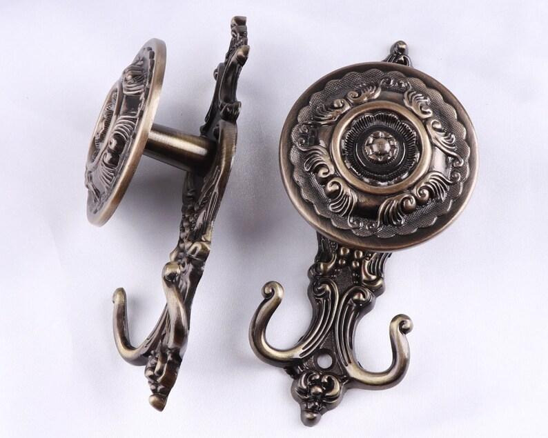 16cm Bronze Decorative Hook Antique Curtain Tie Backs H